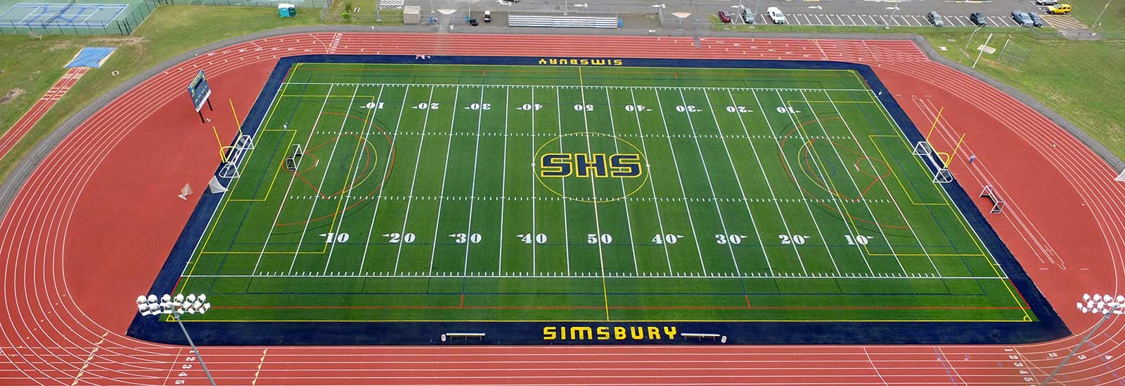Sprinturf Field Install at Simsbury High School